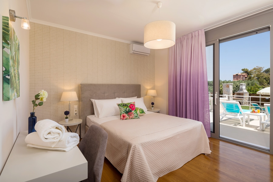 Master Bedroom 1, Private Luxury Boutique Villa Annaset With Jacuzzi | Villas in Zakynthos